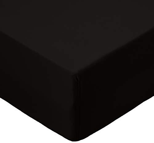 AmazonBasics microvezel hoeslaken, enkel, zwart