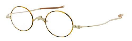 SHIORI 老眼鏡 薄型リーディンググラス SI-05-2+1.00 ブラウンデミ ラウンドタイプ