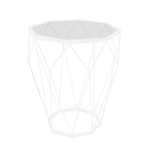Mesa de centro moderna personalidad, mesa de centro creativa redonda de cristal templado adecuado para la oficina, sala de estar o zona de ocio (46 x 56 cm) (color negro)