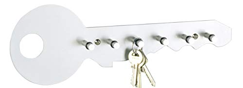 Zeller 13889 - Colgador de llaves con forma de llave, 35 x 4 x 12 cm, color gris aluminio
