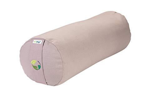 Ecoyogi Bolster – Yoga- & Pilates-Kissen viele Farben – aus Zertifizierter Bio-Baumwolle – kompakter Nackenschoner - 60x20 cm (Beige)