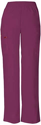 Dickies Women's Signature Elastic Waist Scrubs Pant, Wine, Medium
