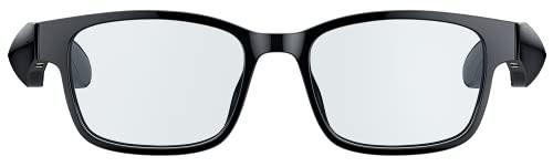 Razer Anzu Smart Glasses Rectangle (S/Mサイズ) ワイヤレスオーディオ スマートグラス 60ms 低レイテンシー Bluetooth 接続 5時間バッテリー持続 オープンイヤー IPX4 防滴仕様 タッチ対応/音声アシスタント 2種類レンズ付(ブルーライト & サングラスレンズ) 【日本正規代理店保証品】 RZ82-03630600-R3M1 ブラック