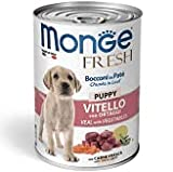 Monge Fresh Bocconi in Patè 24 lattine da 400 g + NutriRiso 1 kg (Vitello Puppy)