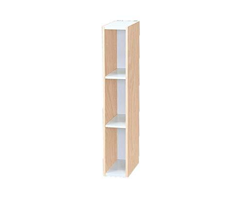 Iris Ohyama - Piccolo spazio di archiviazione / Spazio risparmiando piano modulare - Space Saving Shelf UB-9015 - quercia bianca e chiara, 15 x 29 x 90 cm