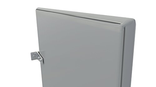 Powder Coated Urinal Stall Partition Divider Screen With Wall Hung Mounting Brackets Kit (Light Grey)