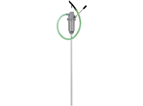 """BLUREA Fasspumpe mit flexiblem Auslaufschlauch, für 60l & 200l Metallfässer, bis zu 350ml pro Hub, 2\"""" Anschlussgewinde, Saugrohr 820mm lang"""