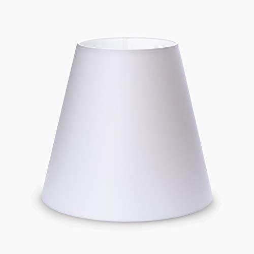 Stoff Lampenschirm Aufnahme E27 Made in Europe 20cm 25cm 30cm Textilschirm Tischlampe Stehlampe konisch weiß braun grau Hängeleuchte (weiß, 31x29cm)
