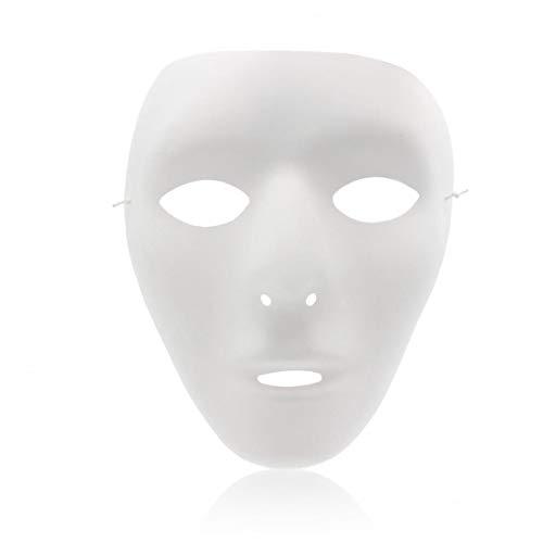 Full Face Theater Mund-schild, Diy Masquereade Mund-schild Für Partei, Hochzeit, Diy Karneval, Kostüm, Anonymous Venetian Carnival Mund-schild Und Tanz Lackierbar Mund-schild Whitie Nützliches