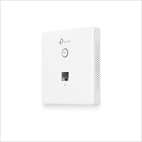 TP-Link EAP115-Wall Access Point Wireless N300 Mbps, 802.11b g n, 1 10 100 Mbps LAN, Supporto 802.3af PoE, Captive Portal, Gestione Software Centralizzata, Predisposizione al Montaggio a Muro