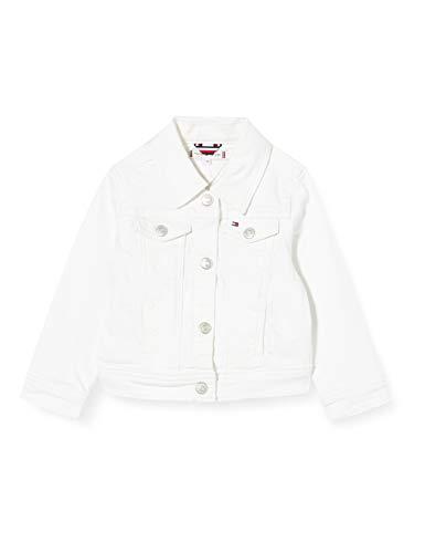 Tommy Hilfiger Mädchen Jacket Socds Jacke, Blau (Soft Colored Denim Stretch-White 1cd), 6-7 Jahre (Herstellergröße: 6)