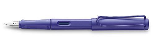 LAMY Safari Candy 021 – Pluma estilográfica moderna en color violeta con mango ergonómico y diseño atemporal – pluma M – Modelo especial