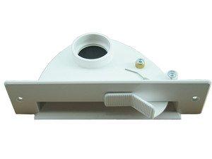 Kehrschaufel Kehrichtklappe für Zentralstaubsauger saugende Kehrschaufel mit Kippmechanik VacPan (Farbe: weiß von Microsafe®