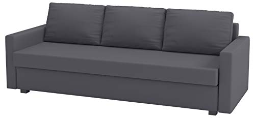HomeTown Market The Cotton Dark Gray Friheten Sleeper Sofa Cover Replacement is Custom Made for IKEA Friheten 3 Seat Sofa Bed Slipcover