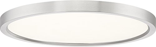 Quoizel OST1715BN Outskirt Modern Super Flush Mount Ceiling Lighting, 1-Light, LED 30 Watts, Brushed Nickel (1