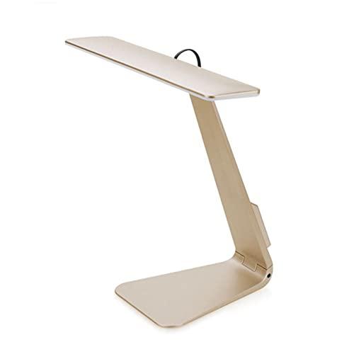 HENY Cuidado De Ojos LED Lámpara De Flexo Escritorio,Control Tátil 3 Niveles De Luz Plegable Carga USB Lámpara De Flexo Escritorio,Ultra-Delgada Lámpara De Flexo Escritorio-Dorado