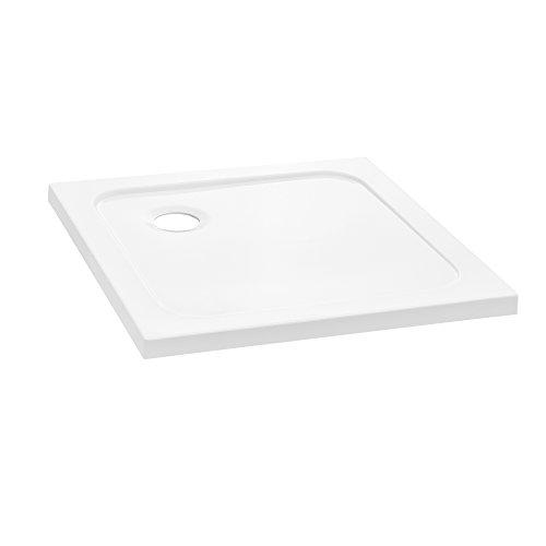 [neu.haus] Duschwanne 70x70cm reinweiß Duschtasse quadratisch extra flach Bad