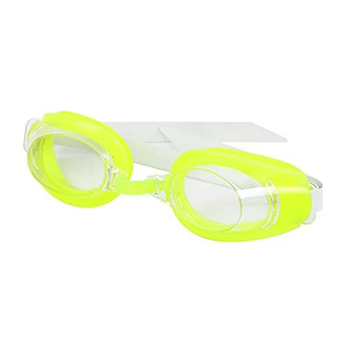 YONGLI Unisex Anti-Niebla Mujeres Natación Gafas Gafas De Nariz Clip Oreja Enchufe Conjunto Multi Hombres Gafas para Adultos (Color : Green)