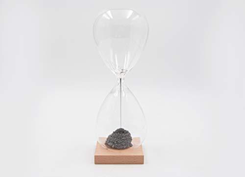 Mascagni Grand Sablier Magnétique avec Base en Bois-H. 24 cm-Objet de Décoration avec création de Boules exceptionnelles Toujours différentes