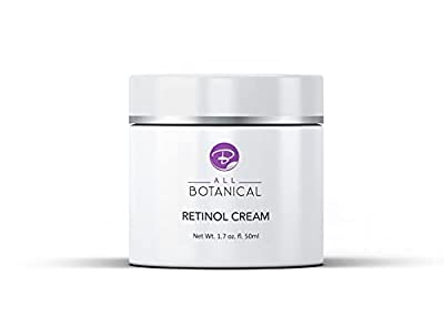 3% Retinol Cream, Hyaluronic Acid, Vitamin A B E for Men and Women – The Best Anti Aging Cream for Face Day & Night that Reduces Wrinkles, Fine Lines & Age Spots – PALM OIL FREE, RESULTS GUARANTEED from All Botanical