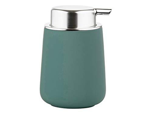 Zone Denmark Nova - Dispensador de jabón líquido de porcelana con revestimiento suave al tacto, color verde petróleo