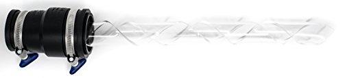 Lumenman Spira Starter Set Lightpainting - Acrylglas Spirale, Connector, Adapter, 2 Flügelmutter Schellen, Transparent