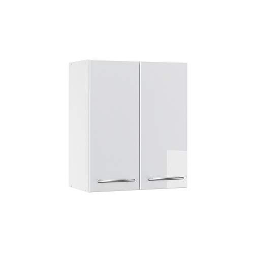 Vicco Küchenschrank Hängeschrank Unterschrank Küchenzeile Hochglanz Fame-Line (Weiß Hochglanz, Hängeschrank 60 cm)