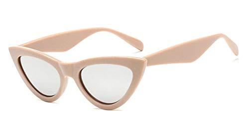 Gafas De Sol Para Mujer Con Protección Uv Polarizada Gafas De Sol De Ojo De Gato Gafas De Sol Para Mujer Gafas Vintage Para Mujer Triángulo Femenino Retro Uv400 Lente Plateada Beige