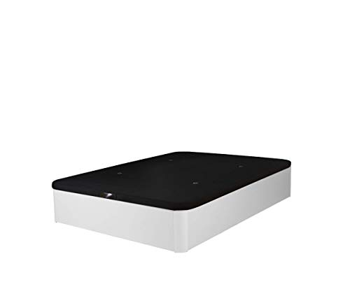 Cama Tapizada 3D Madera Deluxe Maxima Calidad Canapé de Lujo Garantía Canape abatible (150x190 22mm, Blanco)