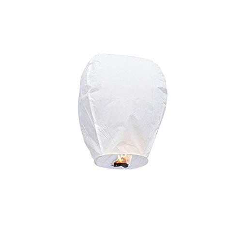 Brteyes 10er-Pack Chinesische Himmelslaternen,Umweltfreundlich,100% Biologisch Abbaubar,Fliegende Papierlaternen,Rein Handgefertigte Wunschlaternen für Party Geburtstag Hochzeit Neujahr