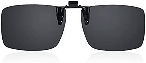 OIIDMAEN Premium Clip on Sunglasses over Prescription Glasses, Polarized, Flip Up Sunglasses for Men and Women