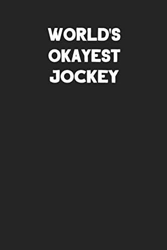 World s Okayest Jockey Blank Lined Career Notebook Journal product image