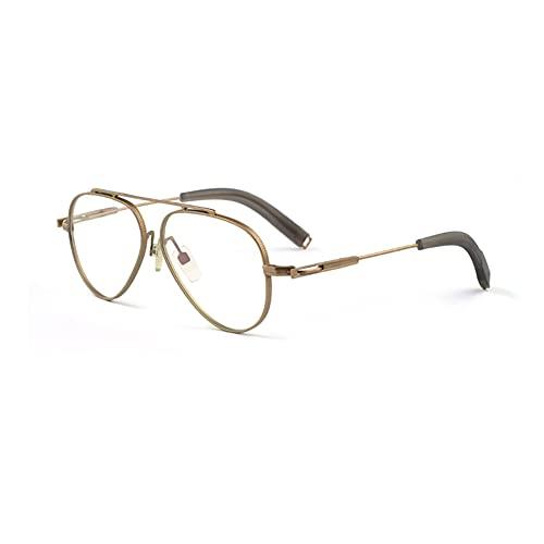 EYEphd Gafas de Lectura de luz Anti-Azul multicenfoque progresivas Inteligentes Retro,Lupa con Montura de Titanio Puro Ultraligero dioptrías +1.0 a +3.0,05,+2.5