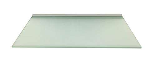 Regale4You Glasregal 50x30 cm /8mm satiniertes Glas Wandprofil LINO8 Alu Silber / 1 Glasablage