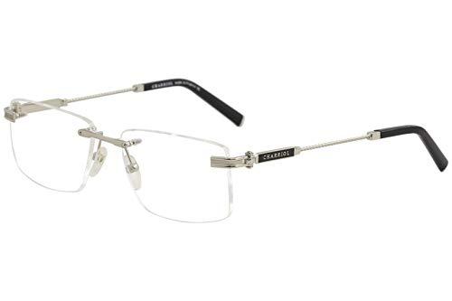 Charriol Men's Eyeglasses PC75001 PC/75001 C02 Shiny Silver Optical Frame 56mm