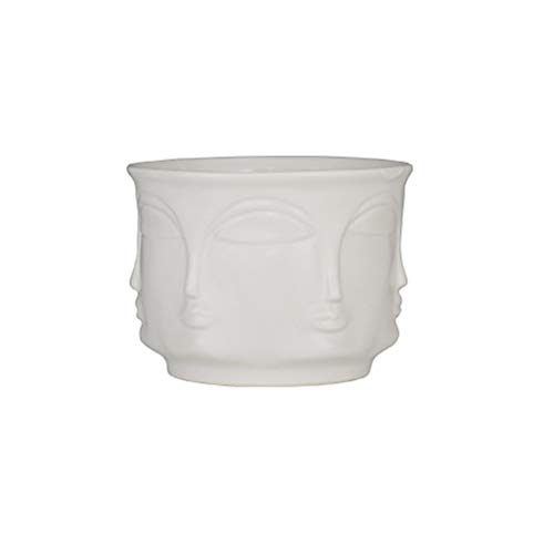 Yardwe Vase de Fleurs Moderne en céramique pour Pots de Fleurs 13 x 13 x 9,5 cm Blanc