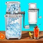 Máquina de afeitar de hielo, manual de manivela de mano operada rompimiento de hielo, trituradora de hielo manual de afeitar picadora de hielo, DIY transparente de verano...