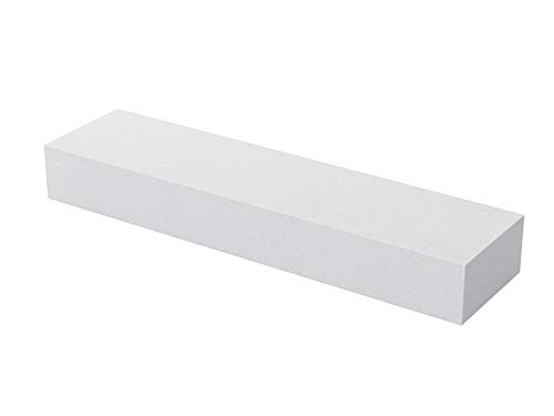 Bon Tool 14-895 8-Inch by 2-Inch by 1-Inch 80 Grit Aluminum Oxide Tile Setters Stone and Rub Brick, White