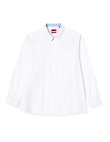 HUGO Herren Vidal 10231511 01 Hemd, Open White199, 42