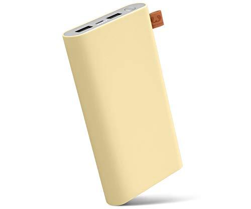 Fresh 'n Rebel Powerbank 18000 mAh Buttercup | Tragbares Ladegerät/Externer Akku mit 2 USB Anschlüssen