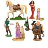 Tangled 7 Piece Figurine Playset Including Rapunzel, Toddler Rapunzel, Flynn Rider, Pascal, Maximus, Mother Gothel & Hook Hand Thug by Disney