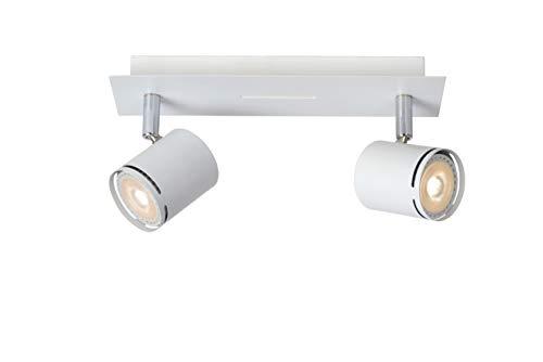 Lucide RILOU - Spot Plafond - LED Dim. - GU10 - 2x4,5W 3000K - Blanc