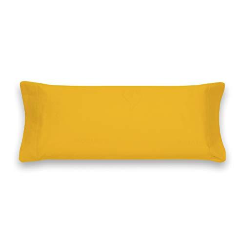 Sancarlos Básicos, Funda de Almohada Lisa, Algodón 100%, Color Mostaza, Cama de 135