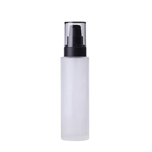 Ssowun 120ML Bouteilles en Verre Vide, 5 Pièces Bouteille Maquillage Bouteille Cosmétique Rechargeable Bouteilles Rechargeable Make-up pour Crèmes Lotions Liquides 1Pièces