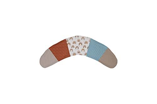 ULLENBOOM  Funda para almohada de lactancia 170x34 cm'Arco iris' (Fabricada en la UE) - almohada para dormir de lado, 100% algodón certificado ÖkoTex