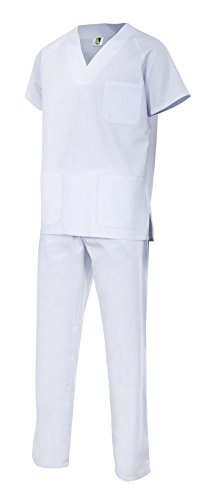 Velilla 800/C7/T0 Conjunto pijama, Blanco