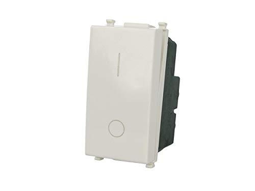 SANDASDON SD70002 Interruttore 2P 16A Bipolare Bianco Compatibile Vimar Plana