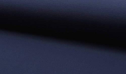 Qualitativ hochwertiger unifarbener French Terry Sweatshirtstoff in Dunkelblau als Meterware zum Nähen von Erwachsenen, Kinder- und Baby Kleidung, 50 cm