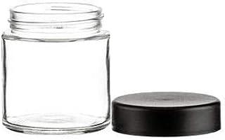 150pc 3oz Glass Jar with Black Child Resistant Lid