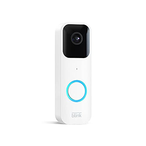 Introducing Blink Video Doorbell   Two-way audio, HD video, motion and chime app alerts, and Alexa enabled — wired or wire-free (White)
